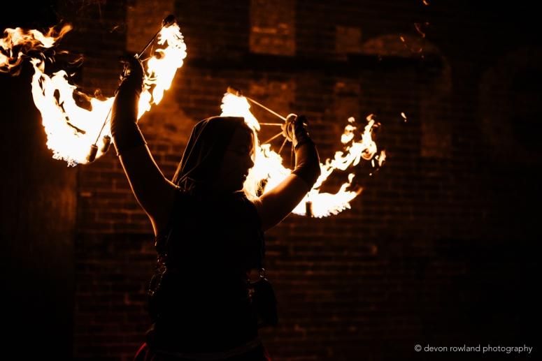 Plurkey Roast Fire Show - Devon Rowland Photography